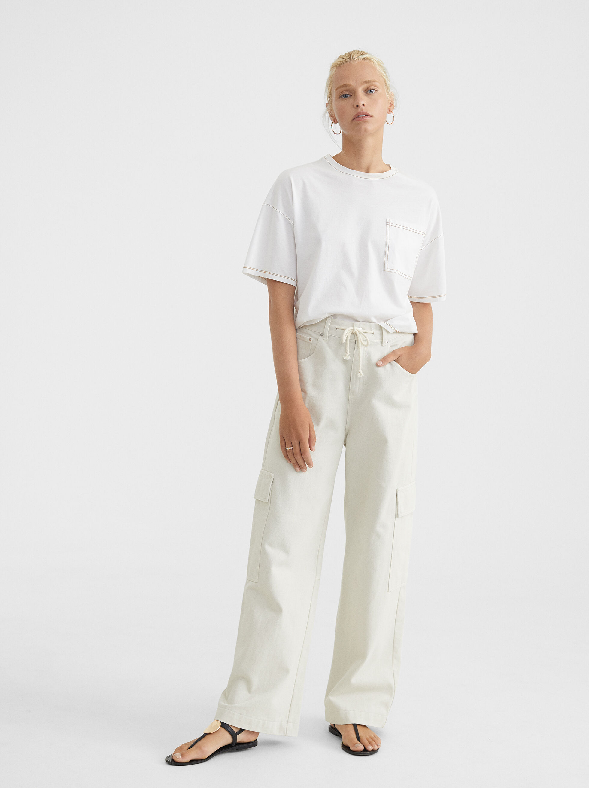 Oversized T-Shirt With Pocket, , hi-res