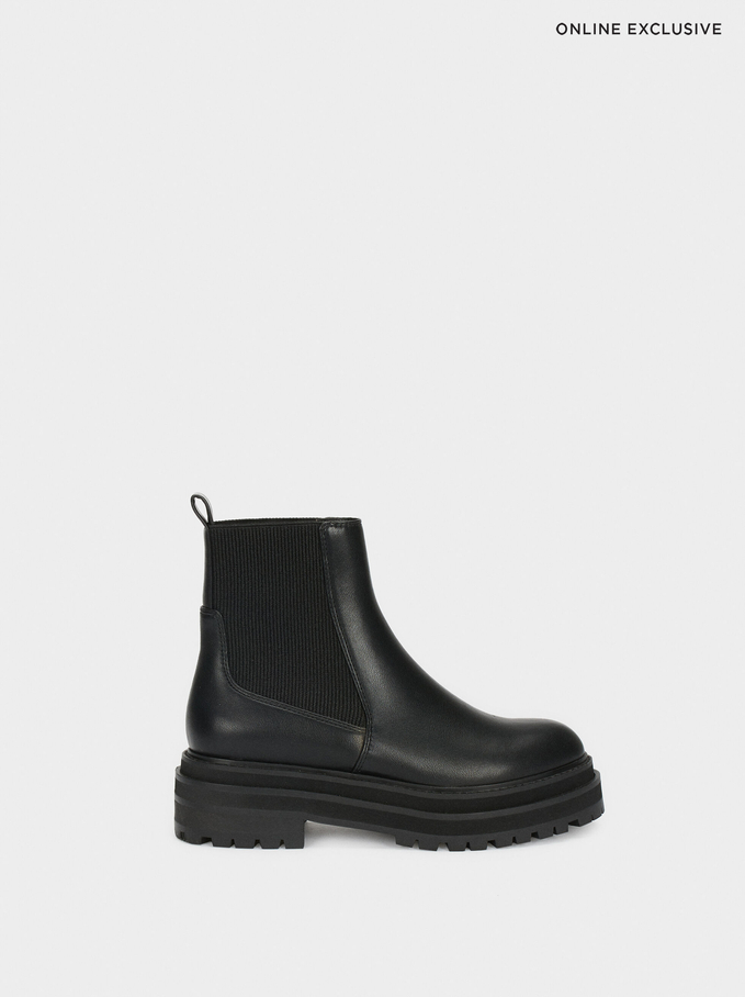 Online Exclusive Platform Boots, Black, hi-res