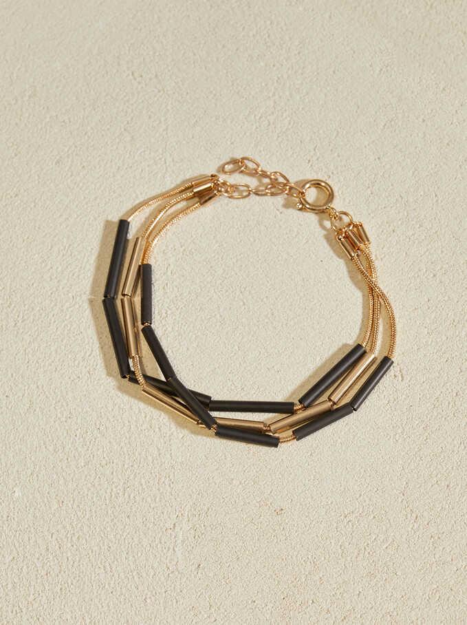 Triple Bracelet, Black, hi-res