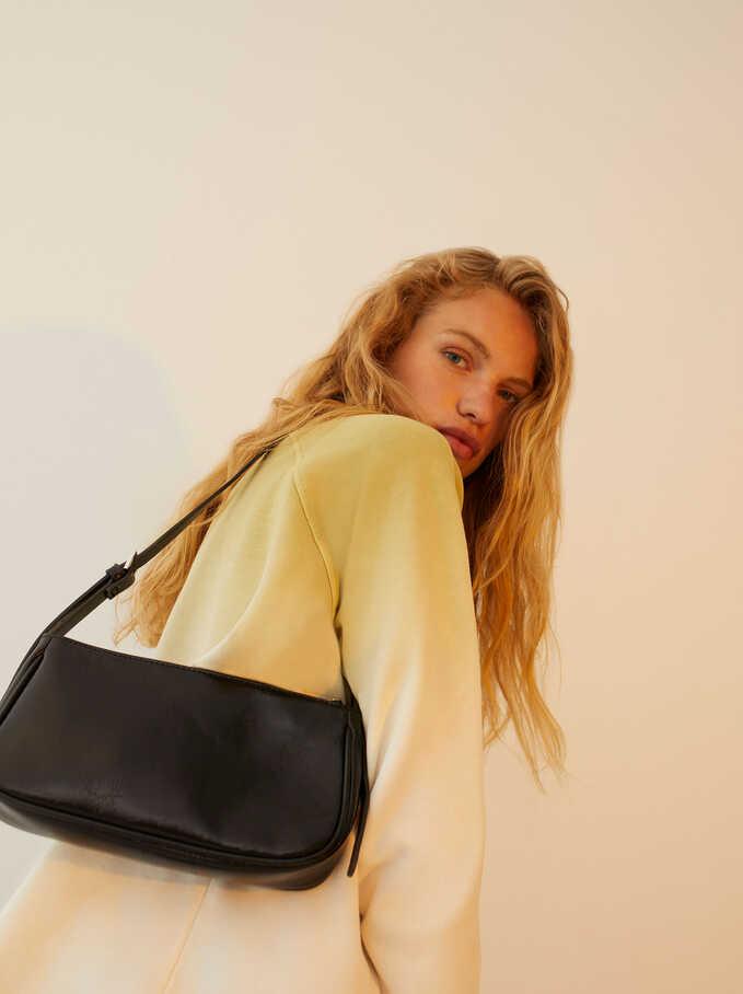 Crossbody Bag With Adjustable Strap, Black, hi-res