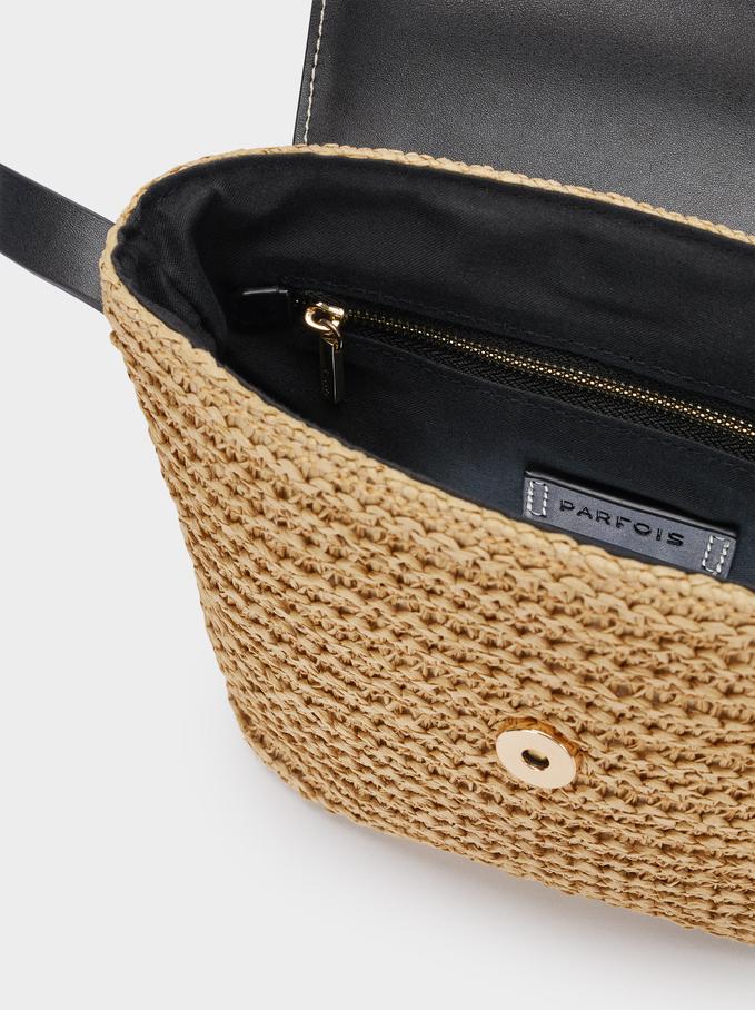 Combined Braided Crossbody Bag, Ecru, hi-res