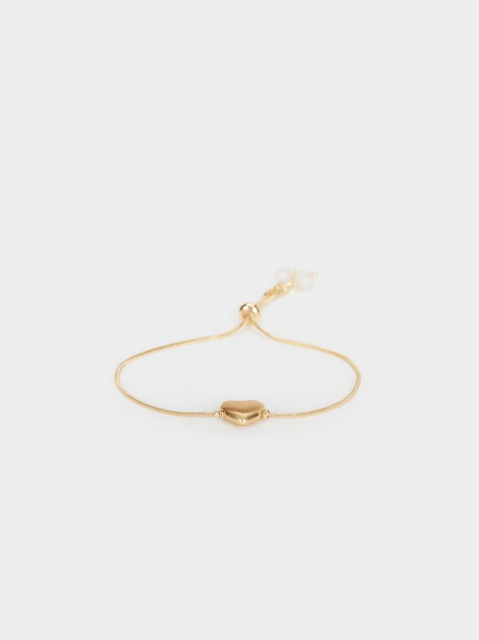 Creme Adjustable Bracelet, Golden, hi-res
