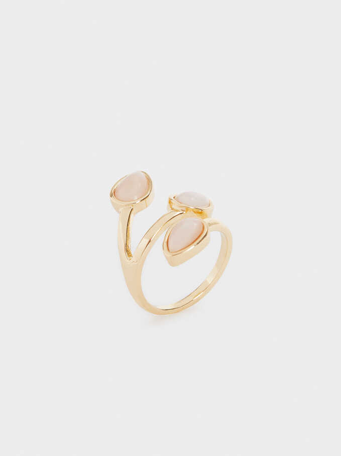 Pink Stones Ring, Blue, hi-res