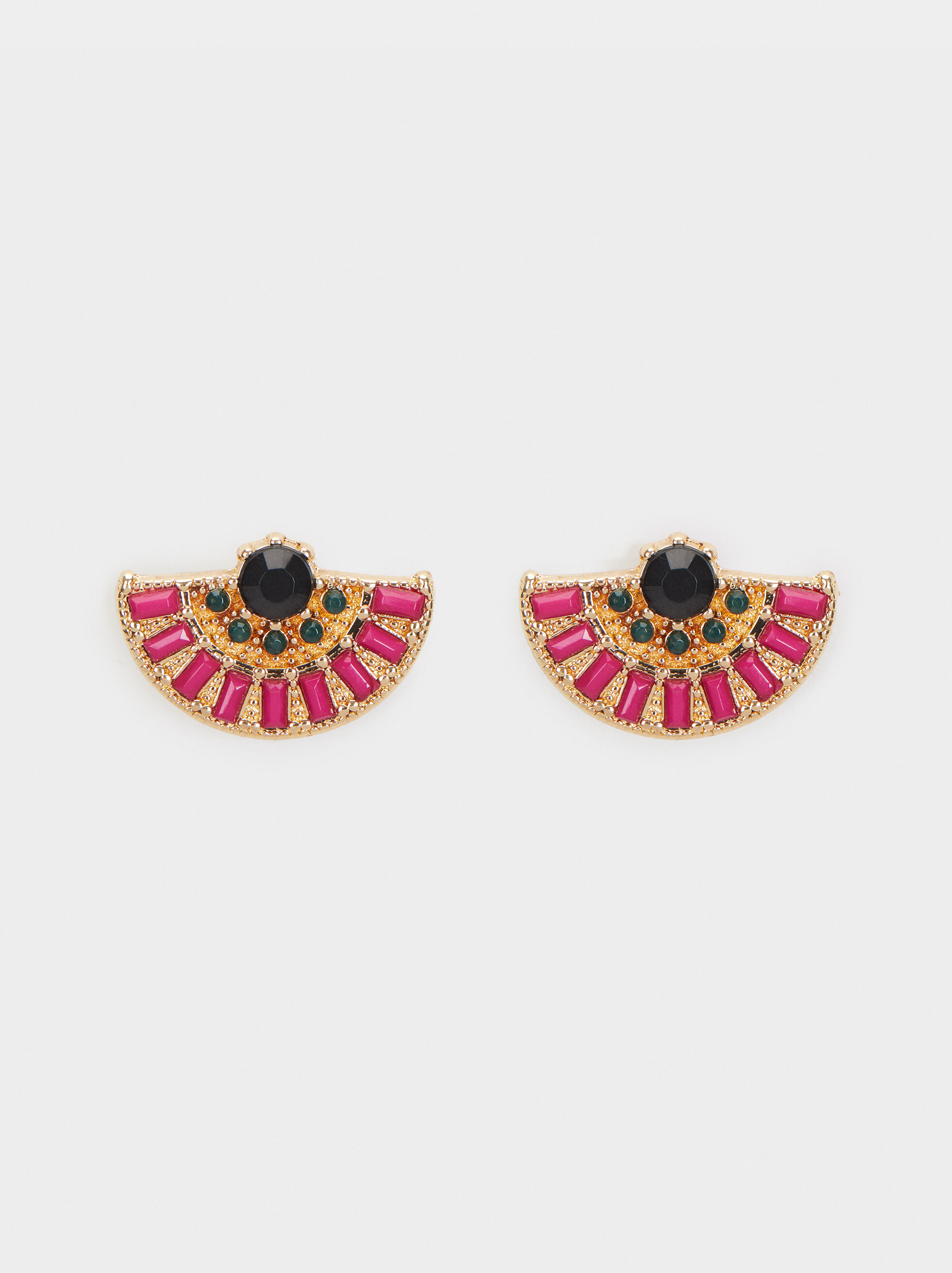 Wild Color Stud Earrings, Multicolor, hi-res