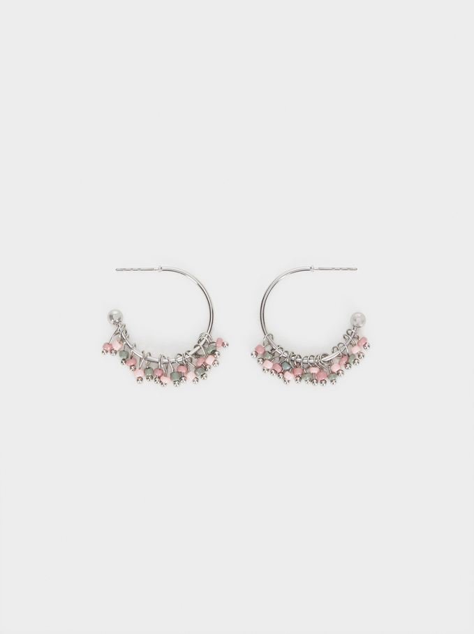 Cosmic Pink Small Hoop Earrings, Multicolor, hi-res
