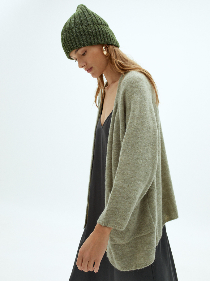Knit Sweater With Buttons, Grey, hi-res