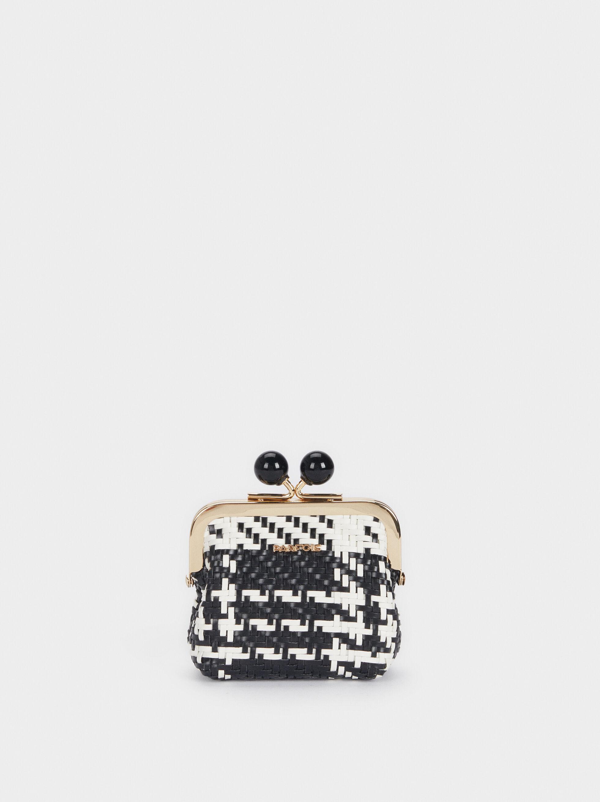 Multicolour Braided Purse, Black, hi-res