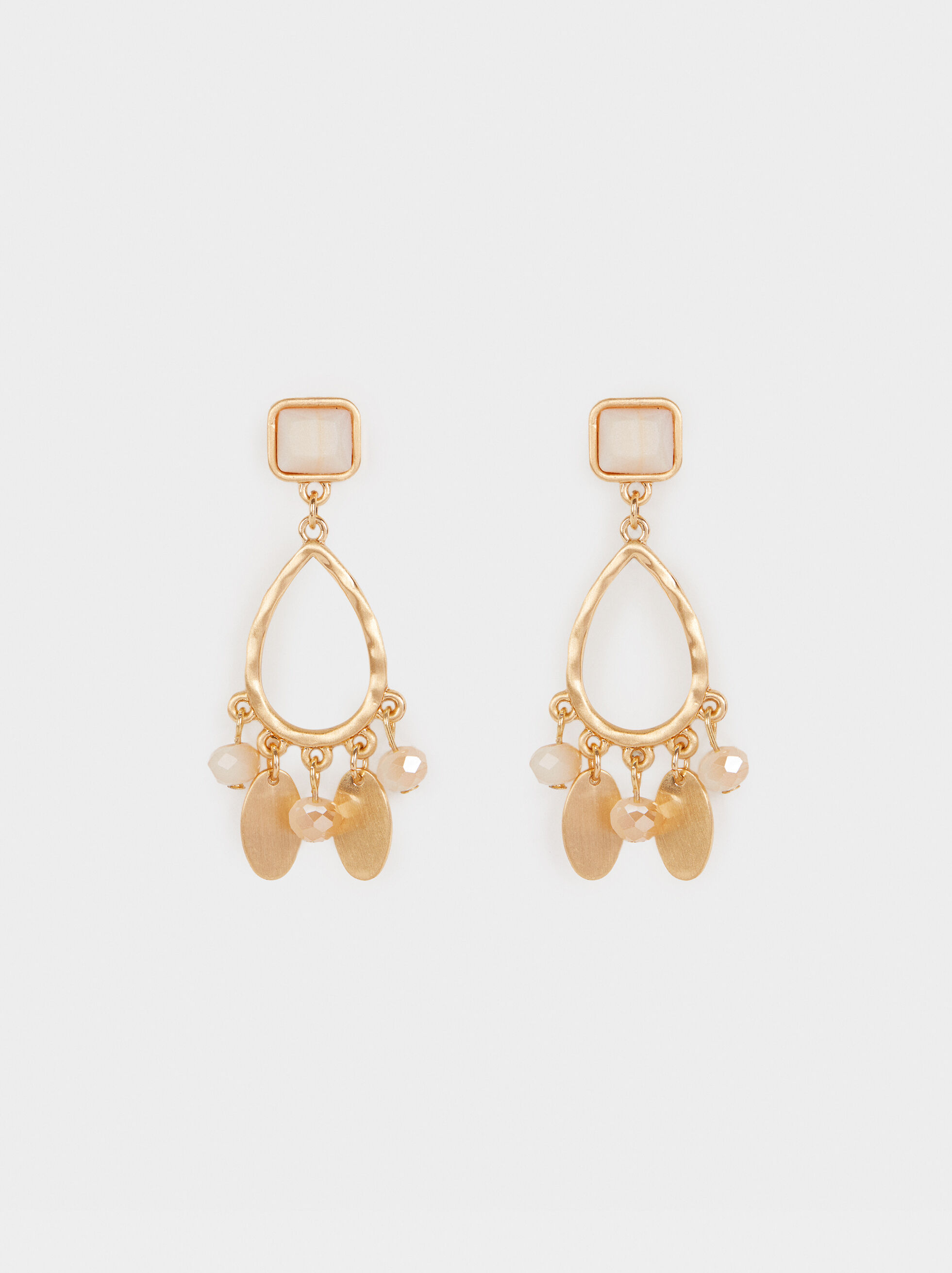 Creme Medium Earrings, Multicolor, hi-res