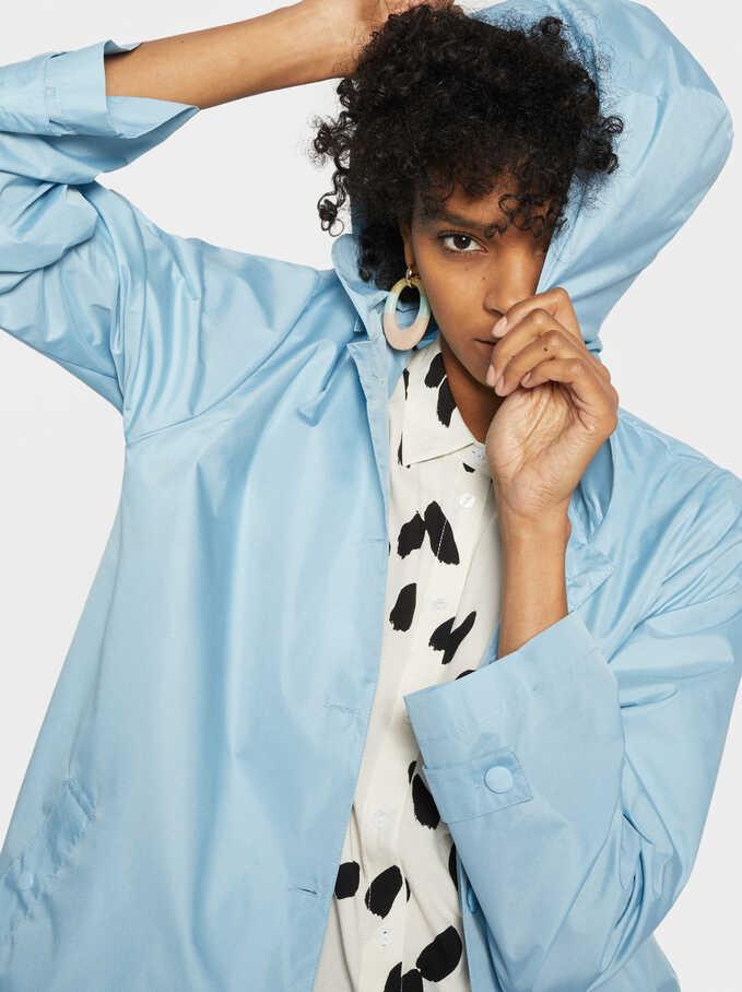 Long Raincoat, Blue, hi-res