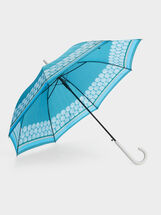 Large Printed Umbrella, Blue, hi-res