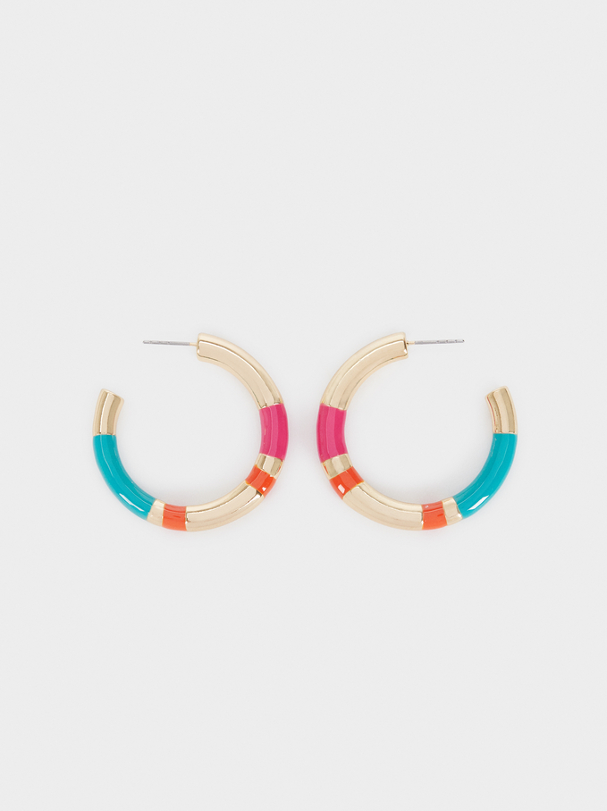 Recife Medium Hoop Earrings, Multicolor, hi-res
