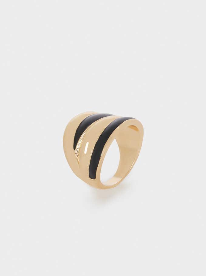 Wide Bands Ring, Black, hi-res