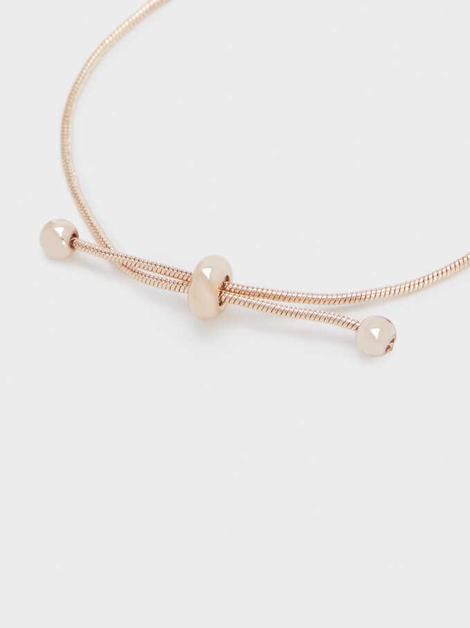Enamel Adjustable Bracelet, Orange, hi-res