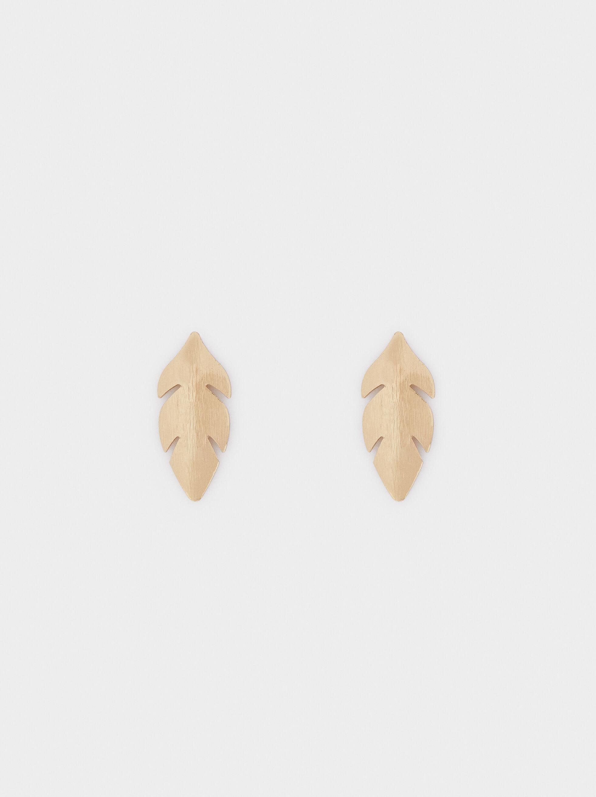 Mediuem Leaf Dangle Earrings, , hi-res