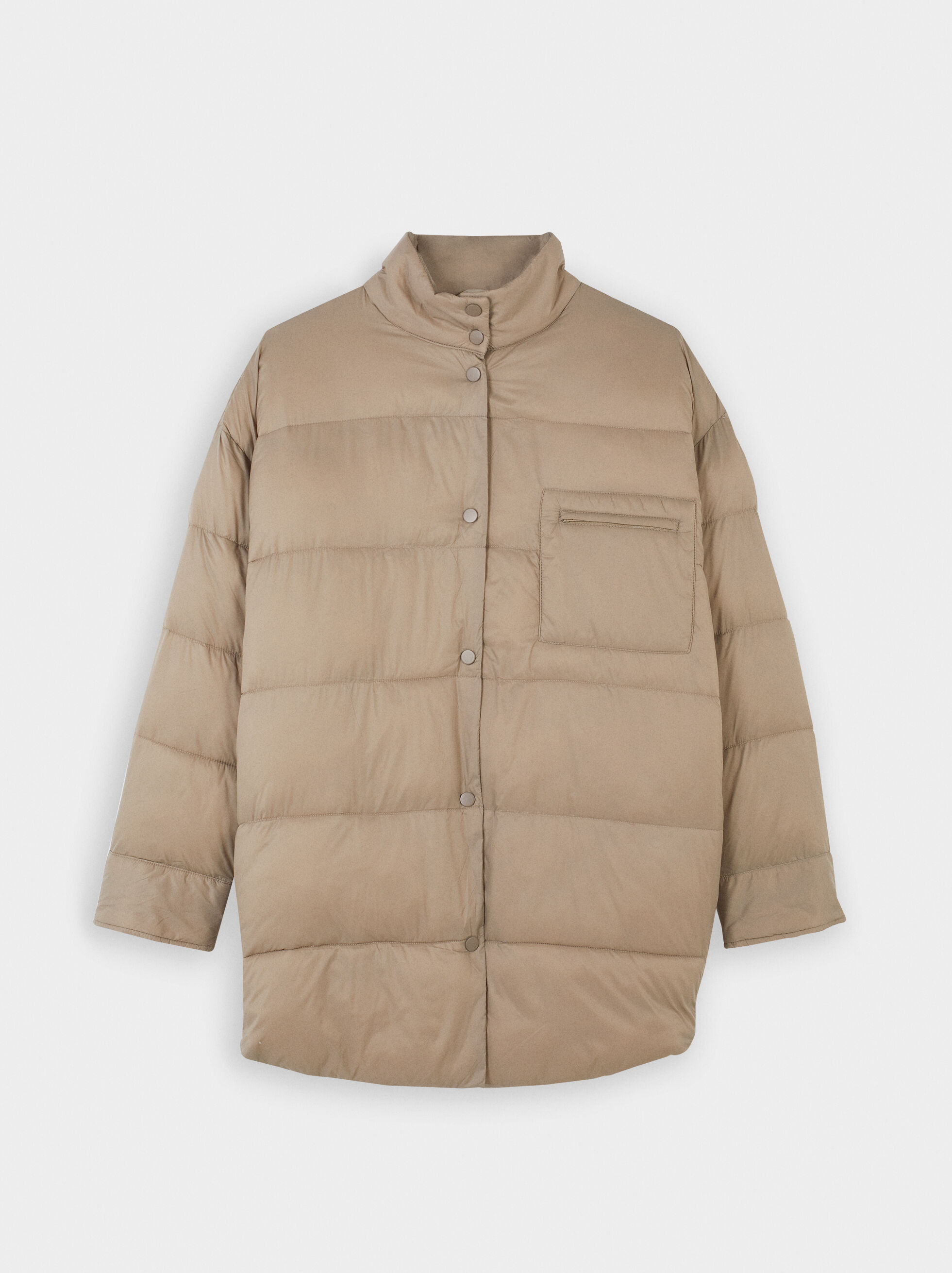 Button-Up Puffer Coat, , hi-res