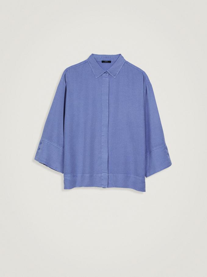 Hemd Aus 100% Lyocell, Blau, hi-res