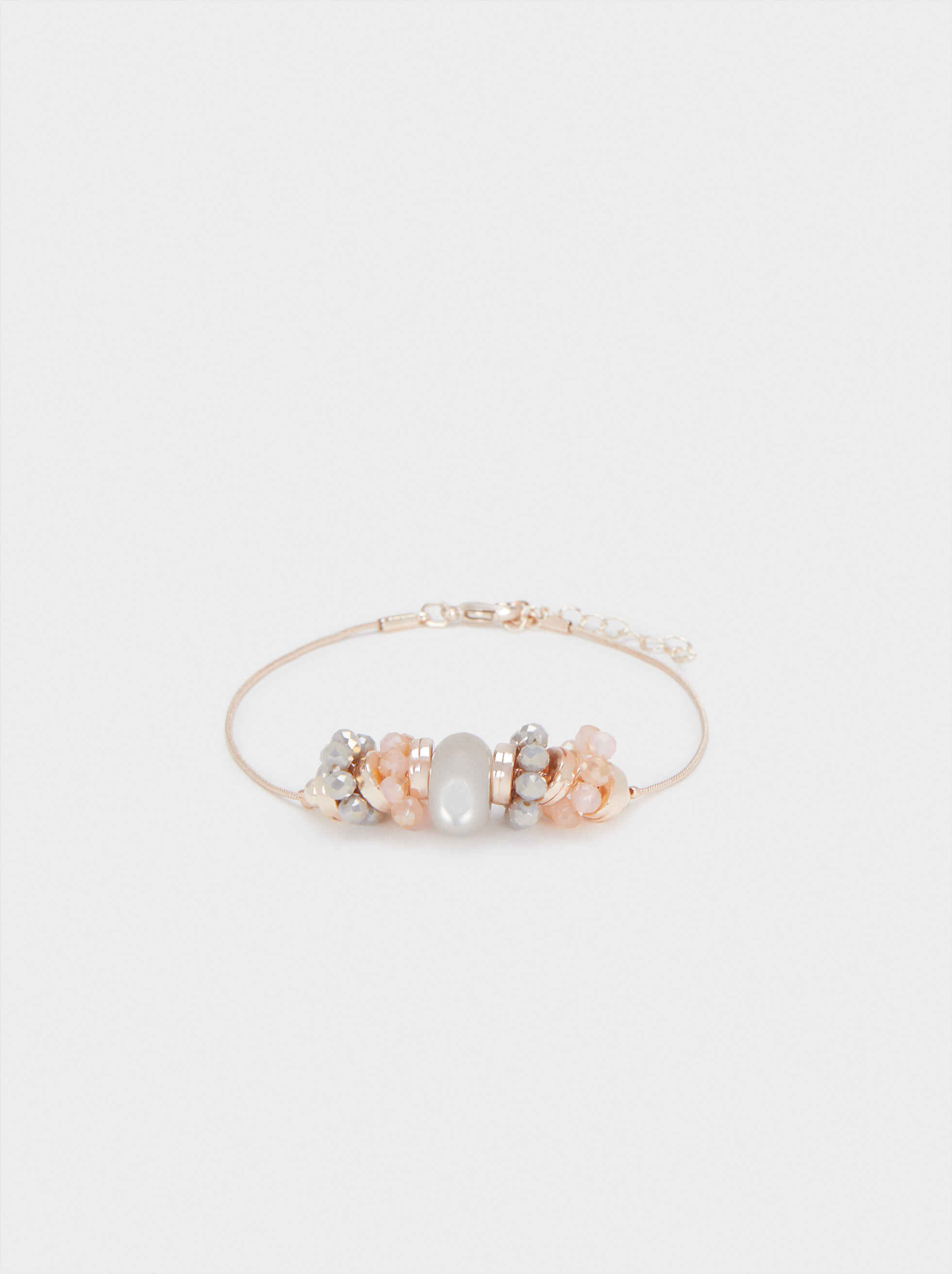Rose Gold Adjustable Bracelet, Orange, hi-res