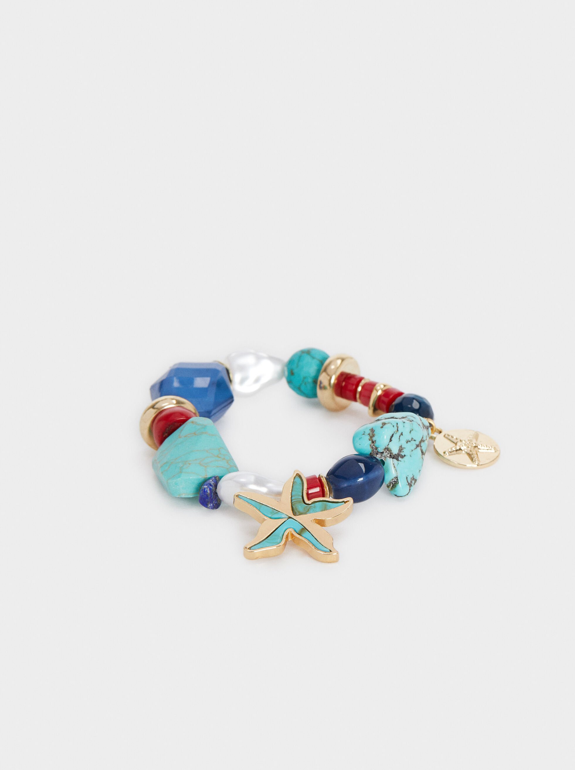 Recife Elastic Bead Bracelet, Multicolor, hi-res