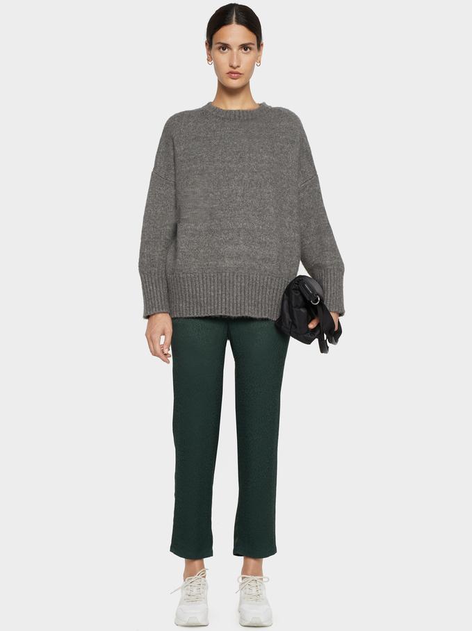 Jacquard Trousers, Green, hi-res