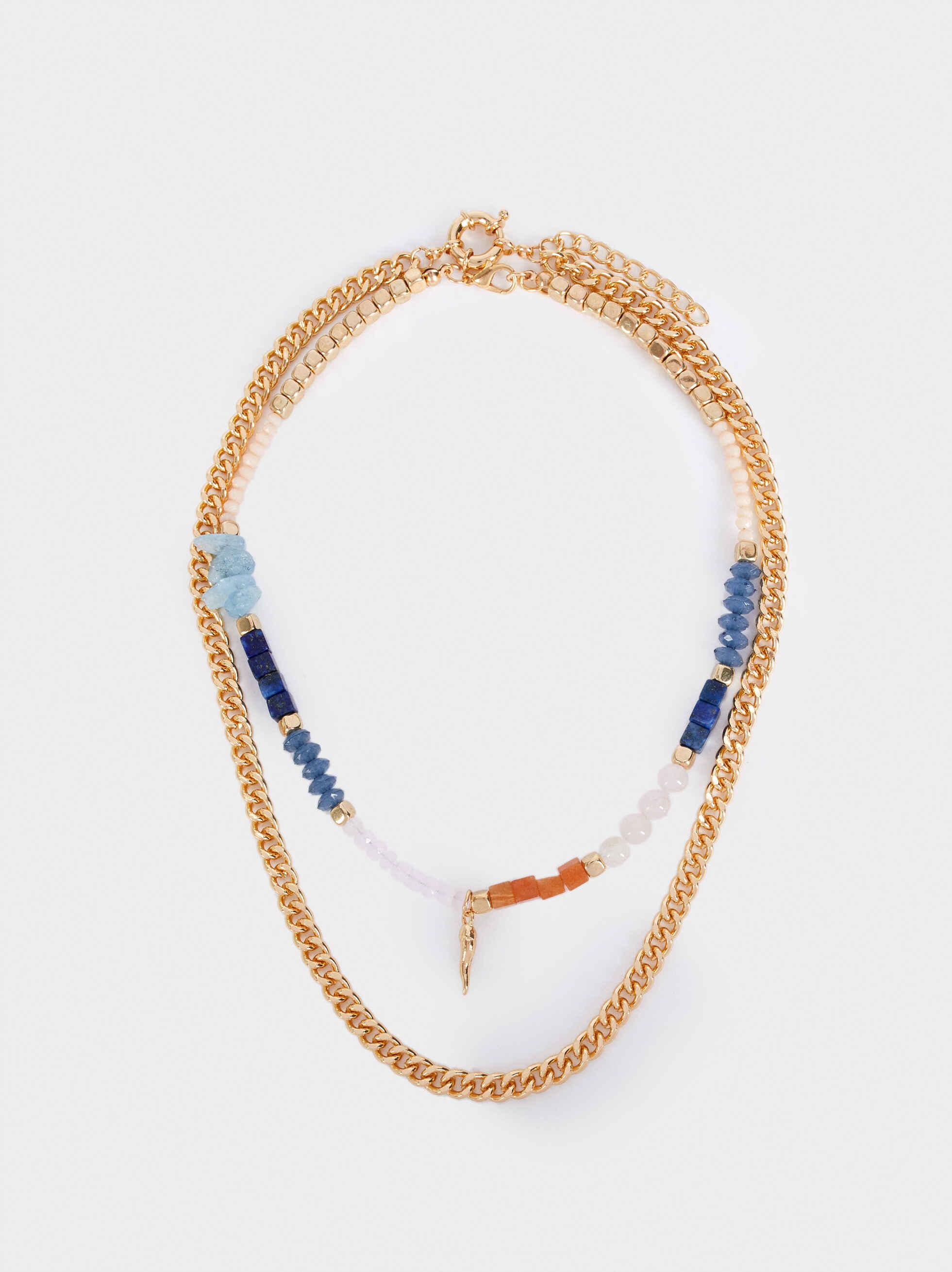 Set Of Short Multicoloured Necklaces, Multicolor, hi-res