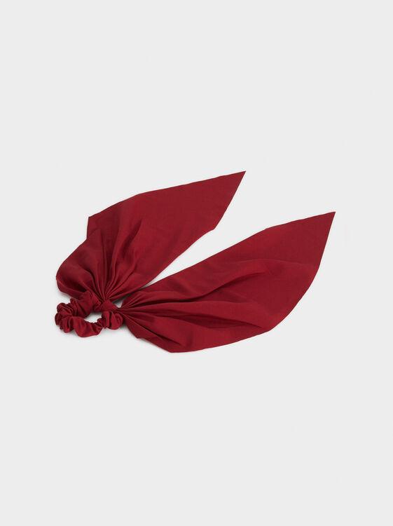 Plain Scrunchie, Red, hi-res