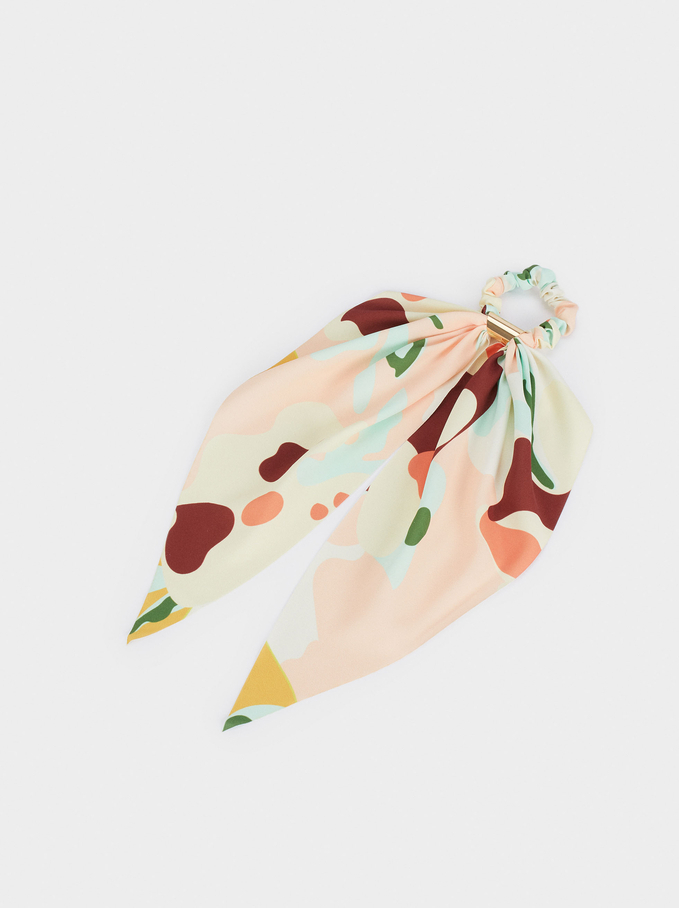 Scrunchie With A Bow, Multicolor, hi-res