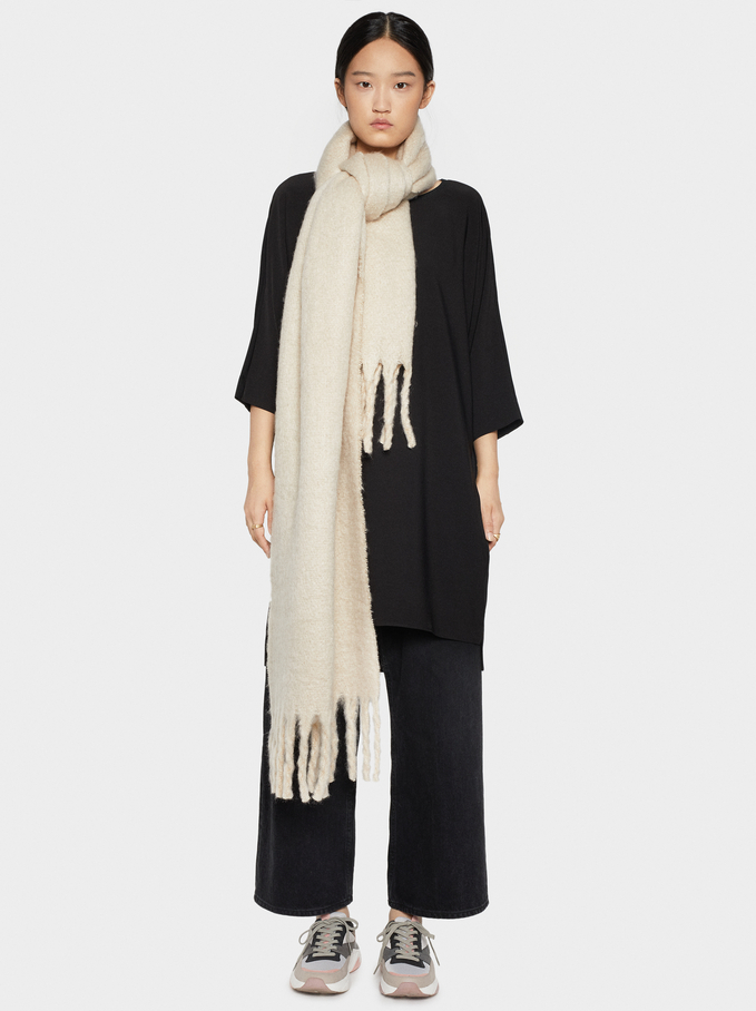 Plain Dress With Pockets, Black, hi-res