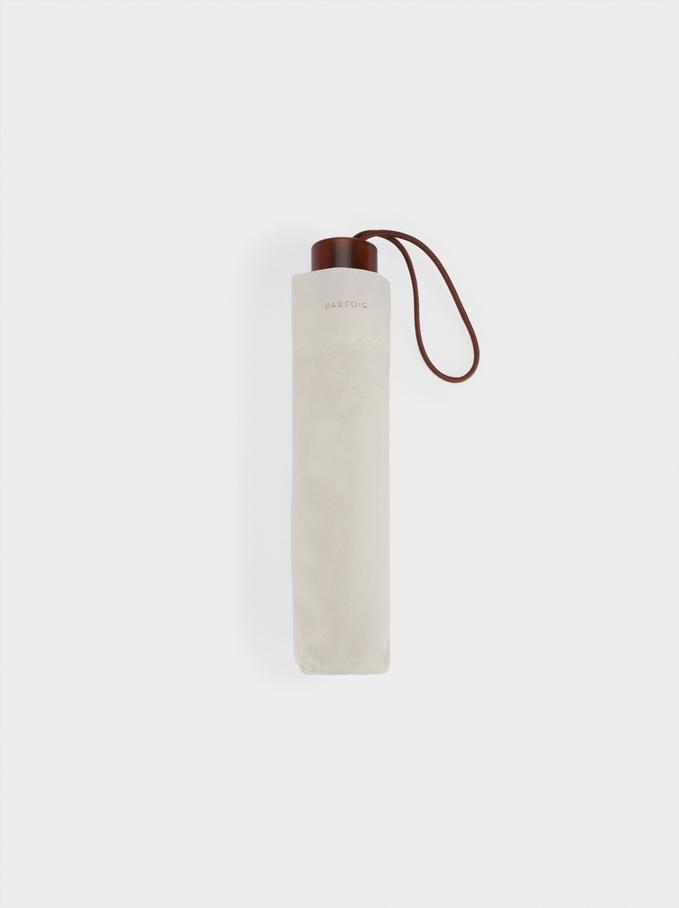Small Folding Umbrella, Beige, hi-res