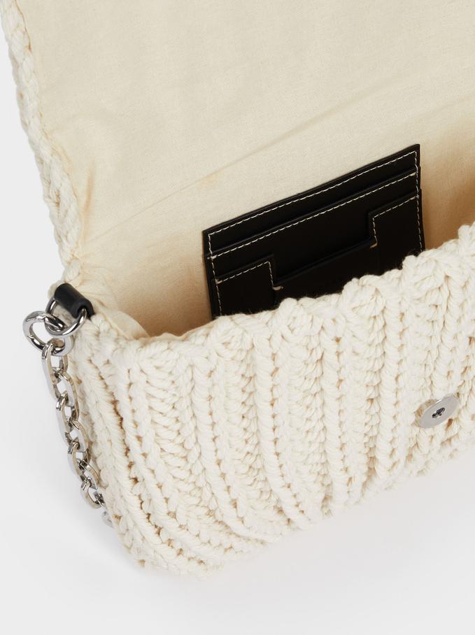 Interlaced Handbag, Ecru, hi-res