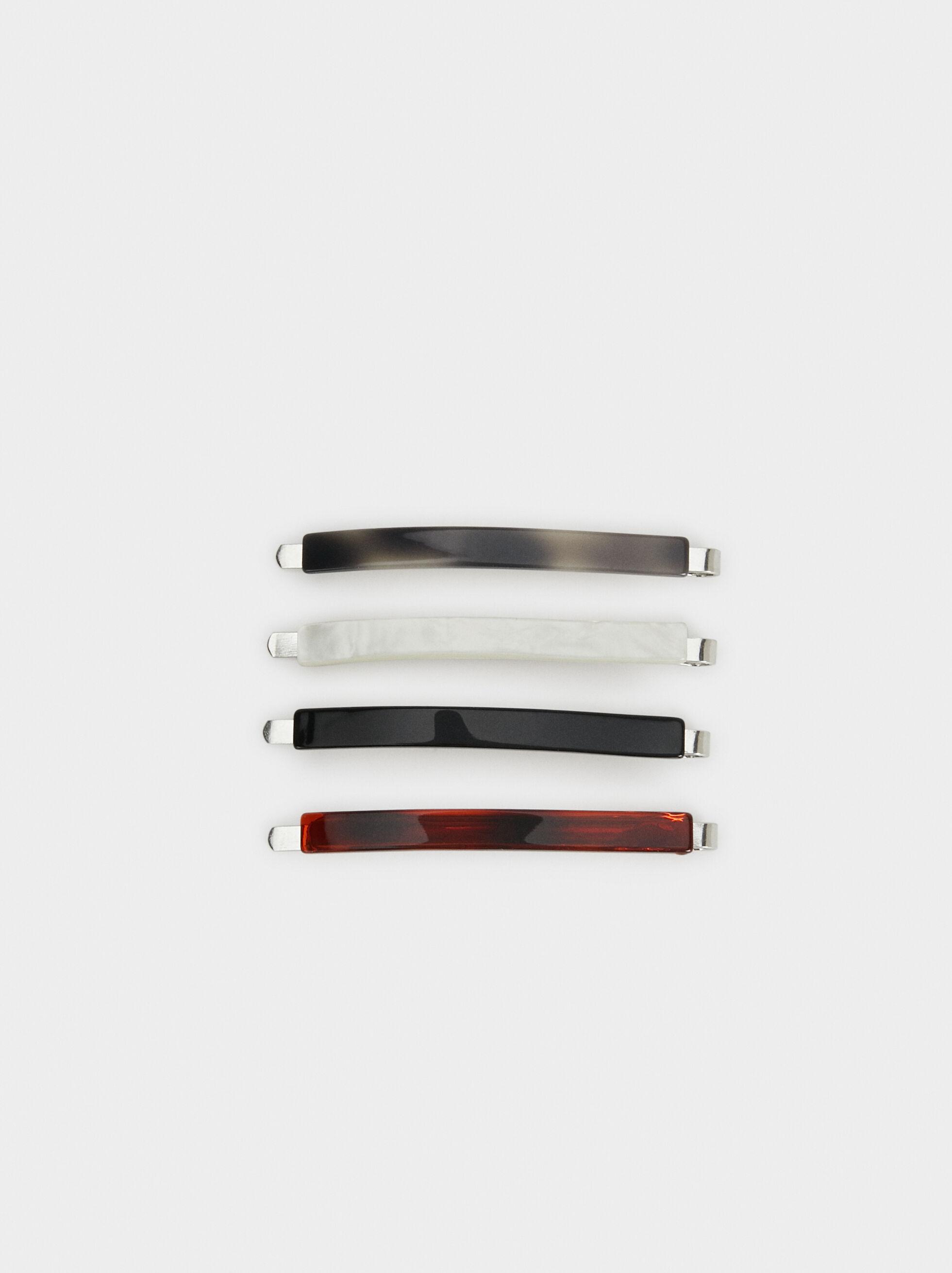 Basic Hair Clip, Multicolor, hi-res