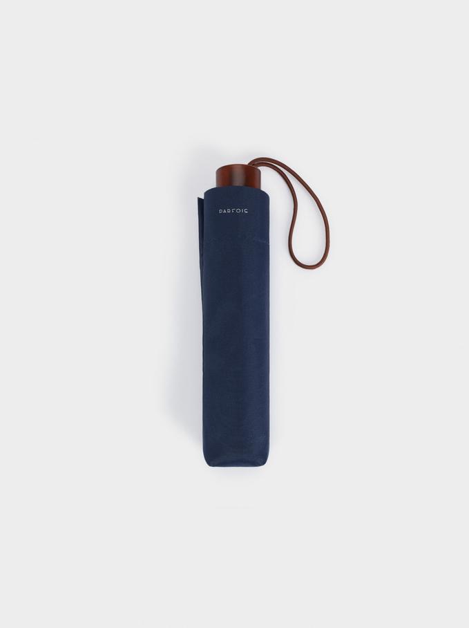 Small Folding Umbrella, Blue, hi-res