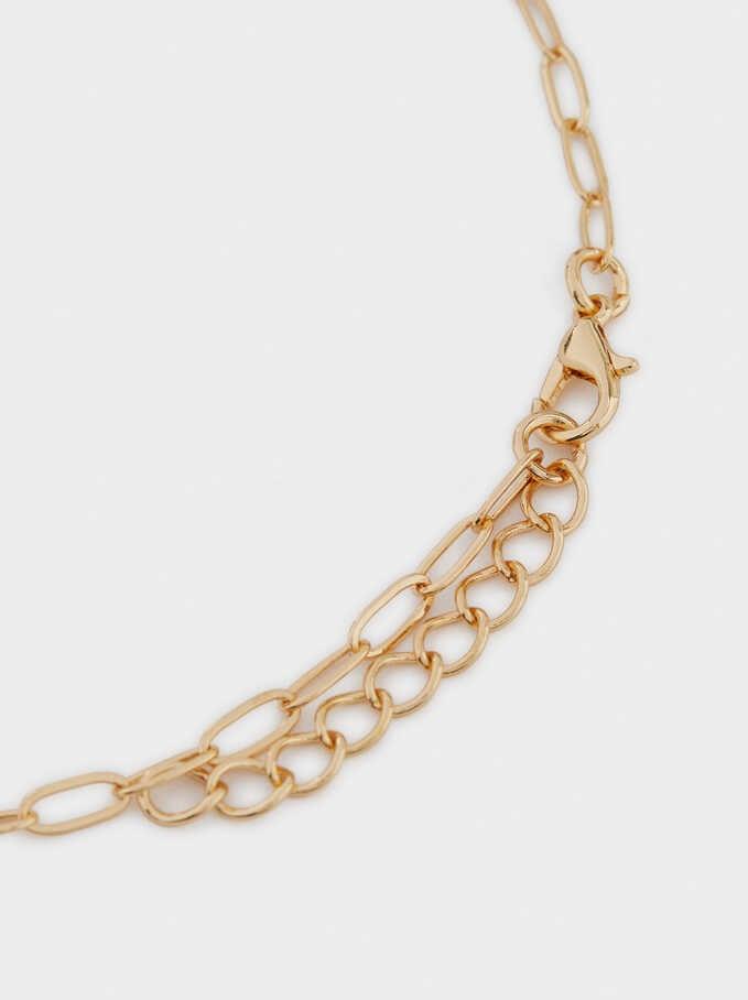 Conjunto De Collares Combinados Con Colgantes, Dorado, hi-res