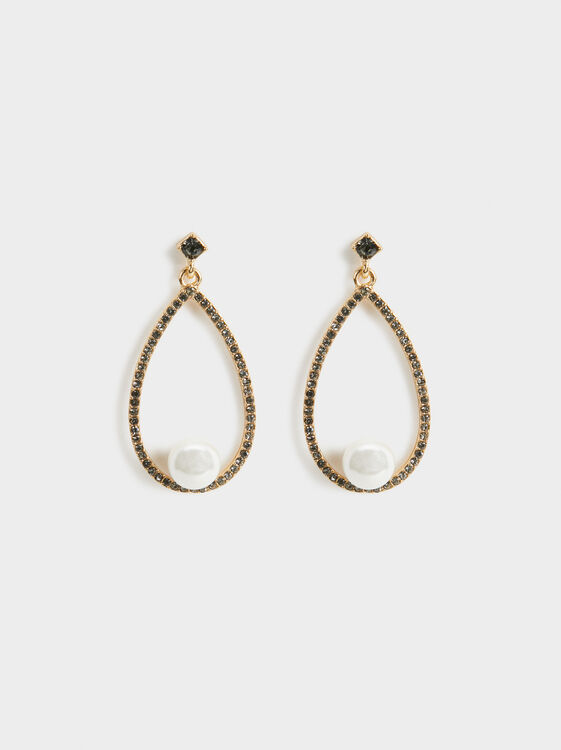Long Pearl Bead Earrings, , hi-res