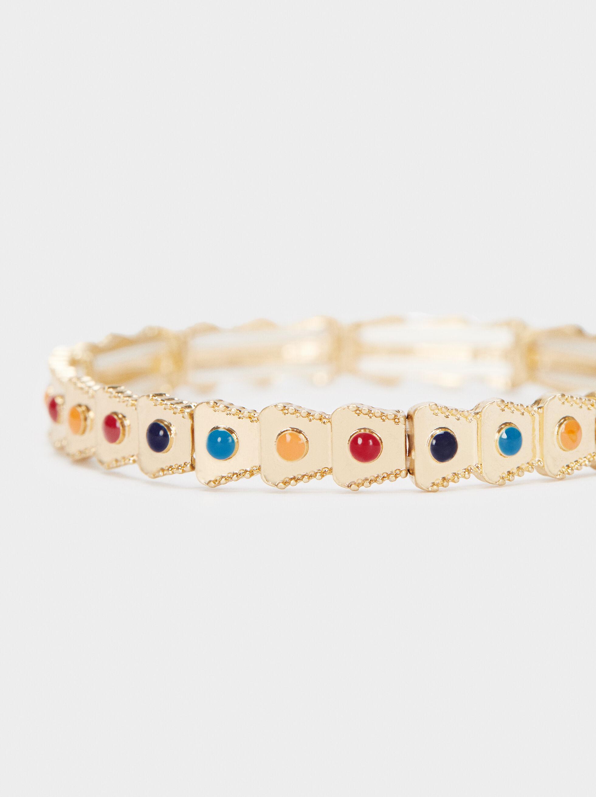 Bracelet Élastique Doré, Multicolore, hi-res