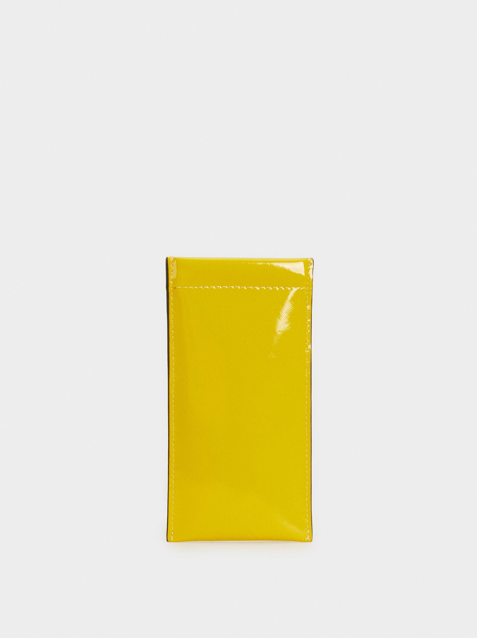 Patent Finish Glasses Case, Yellow, hi-res