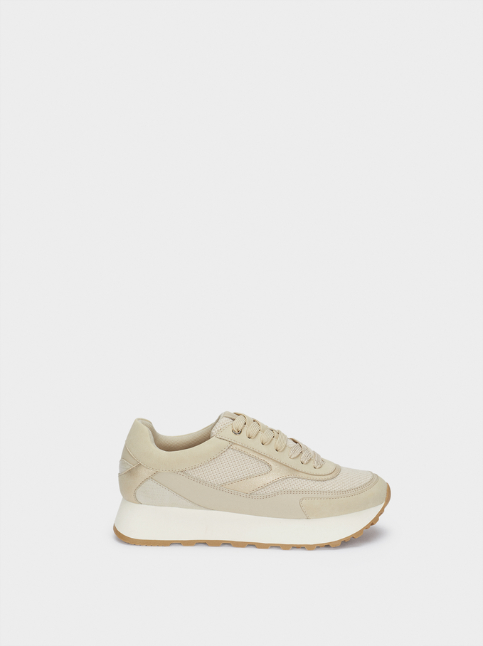 Sneakers Combinate , Beige, hi-res