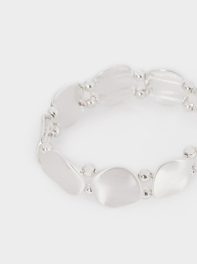 Bracelet Élastique Argenté, Argent, hi-res