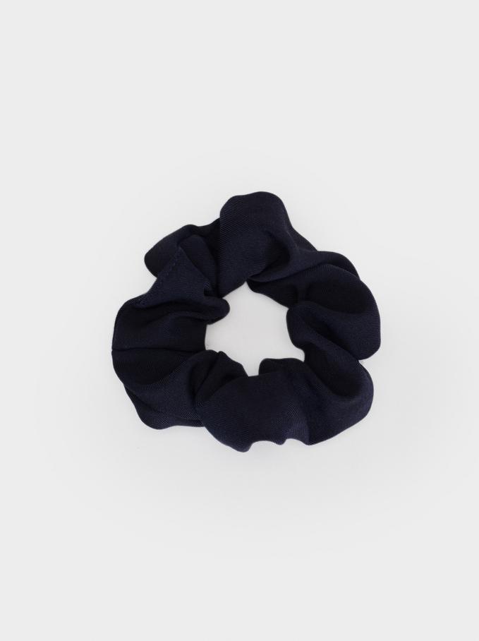 Basic Scrunchie, Navy, hi-res