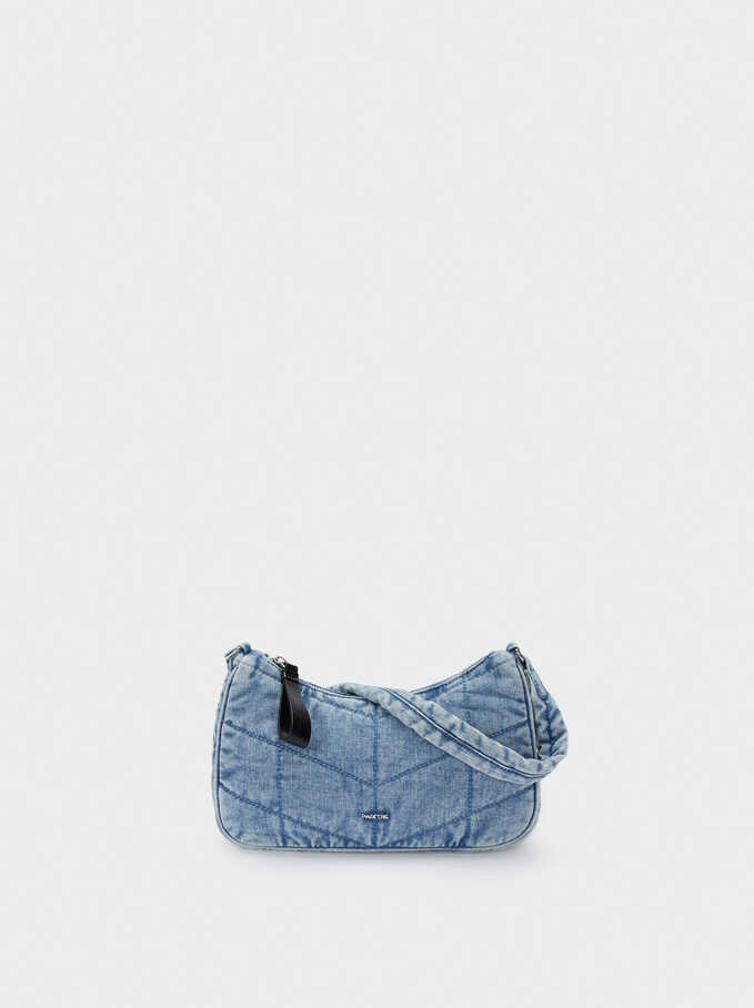 Denim Crossbody Bag, Blue, hi-res