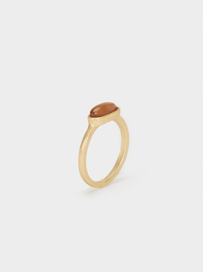 Creme Ring With Stone Detail, Multicolor, hi-res