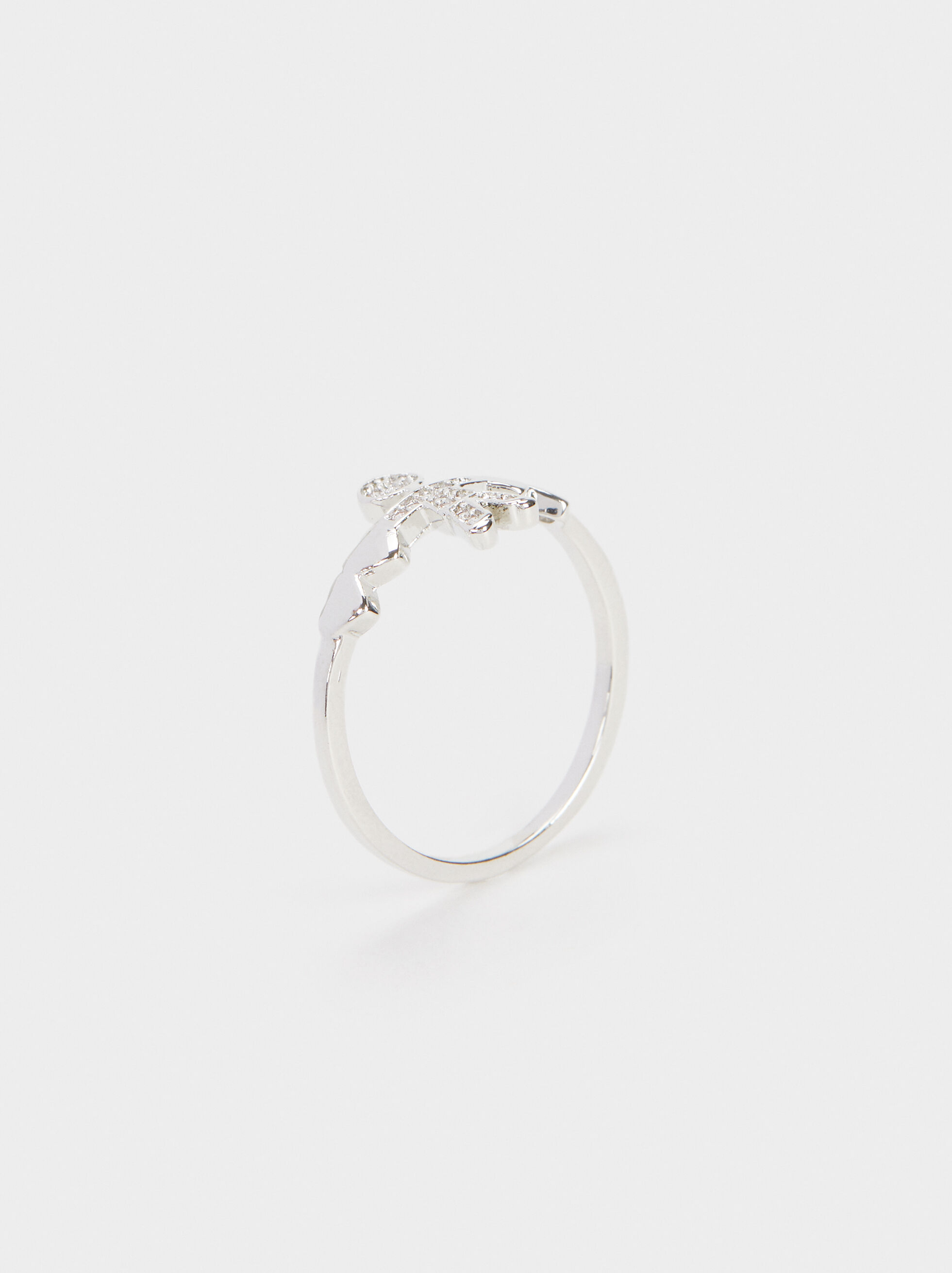 Boy'S Heart Ring, Silver, hi-res