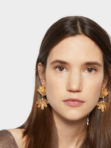 Exclusive Collection Long Earrings, Golden, hi-res