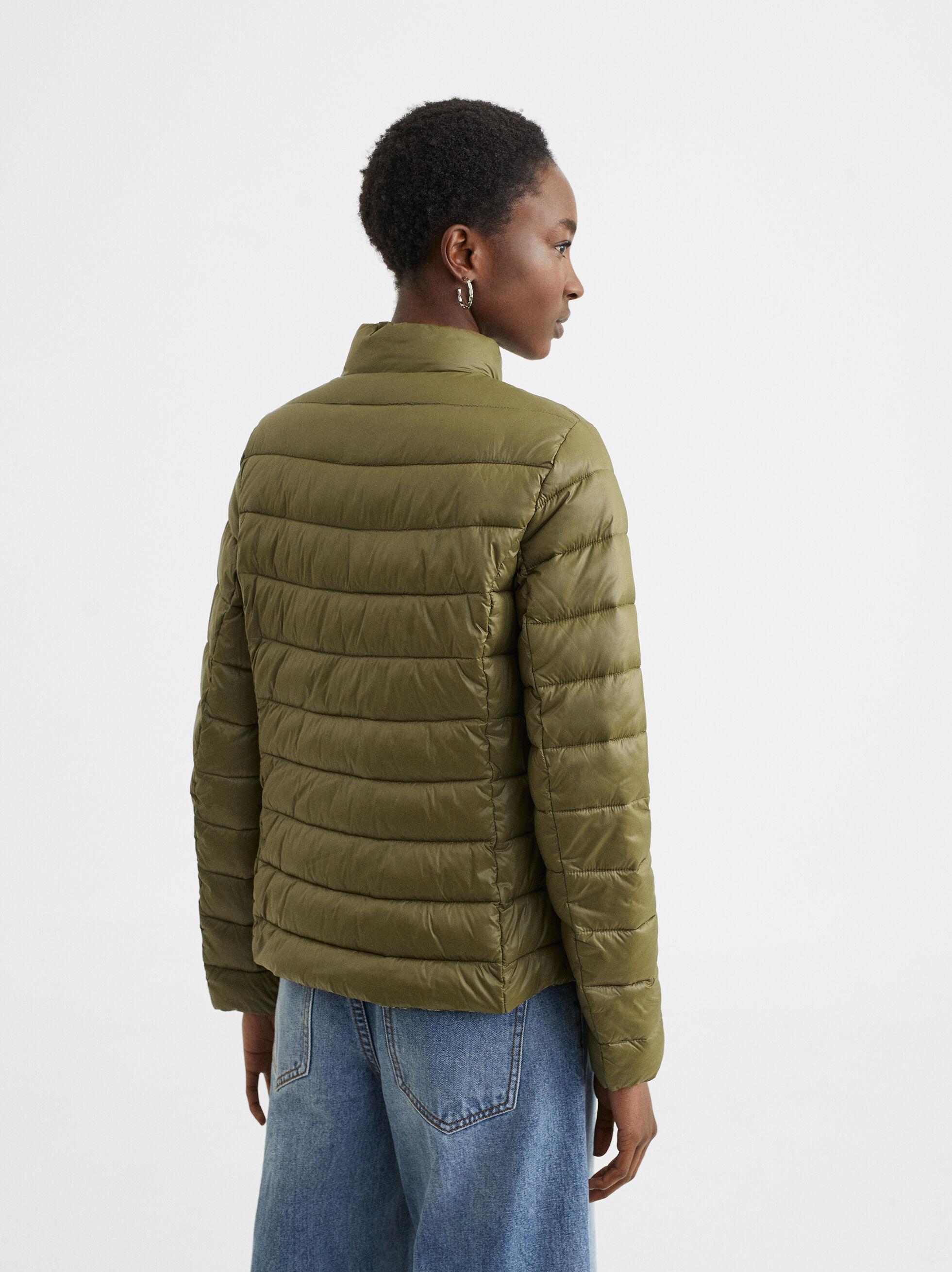 Quilted Jacket, Khaki, hi-res