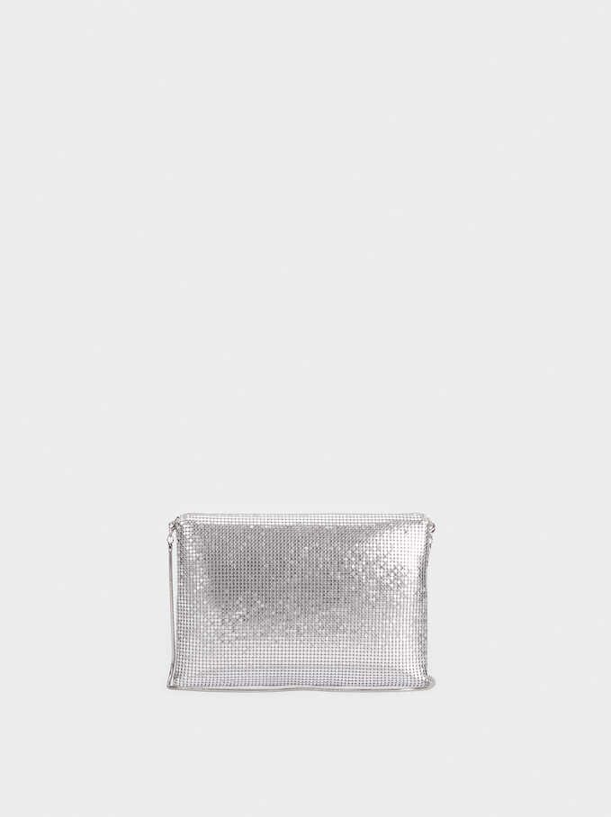 Mini Mesh Crossbody Bag, Silver, hi-res