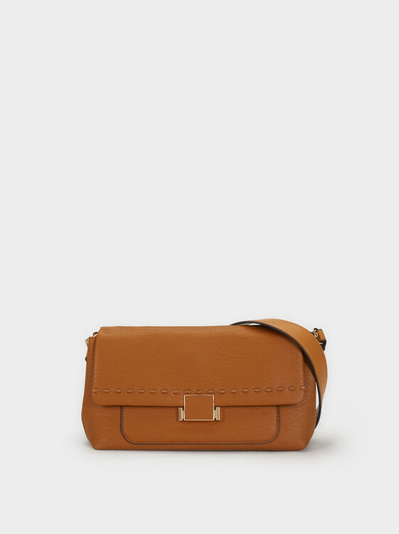 Crossbody Bag With Seam Detail, , hi-res