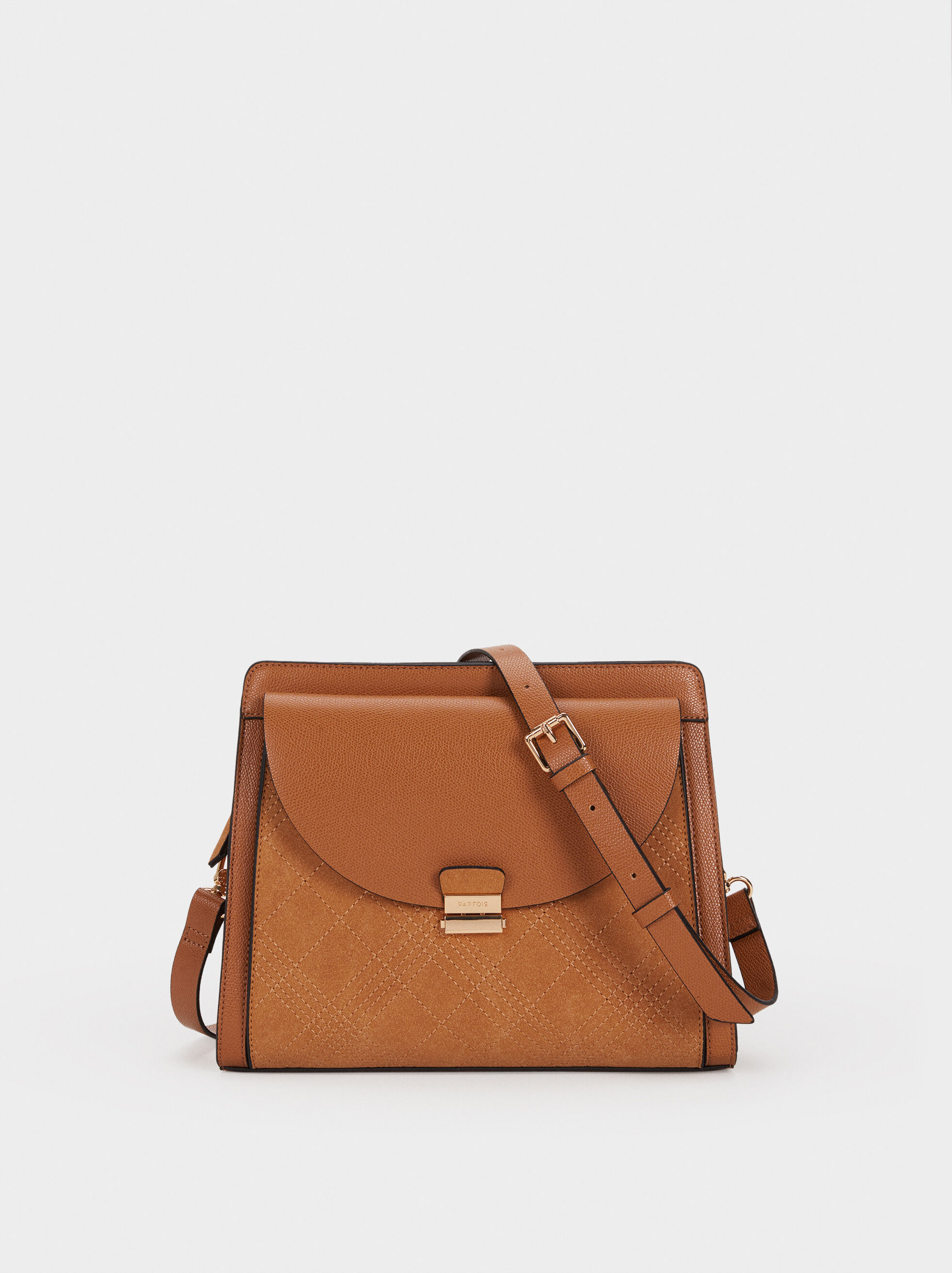 Shoulder Bag With Topstitching, , hi-res