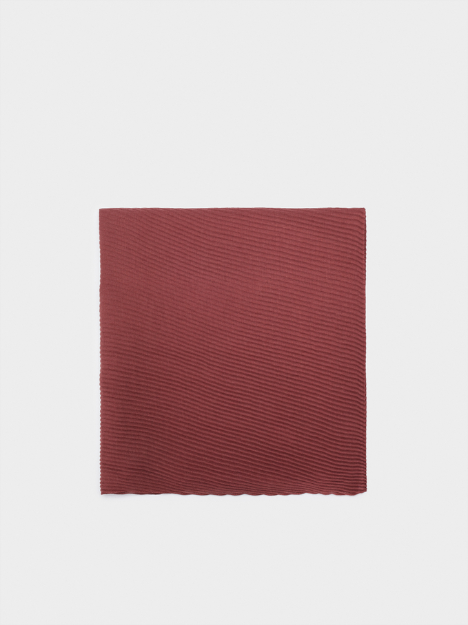 Pleated Pashmina, Bordeaux, hi-res