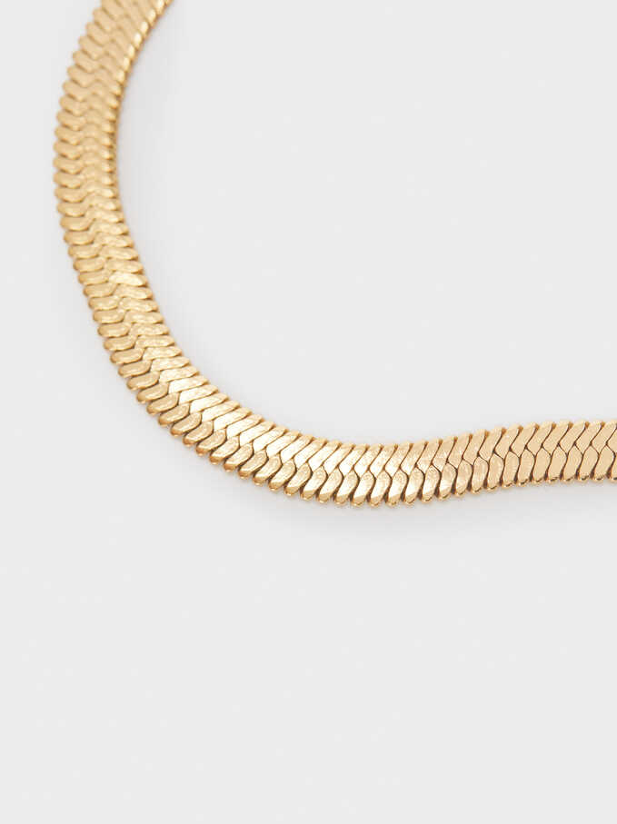 Stainless Steel Gold Bracelet, Golden, hi-res