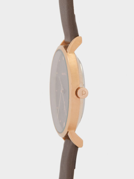 Watch With Two Straps, Brown, hi-res