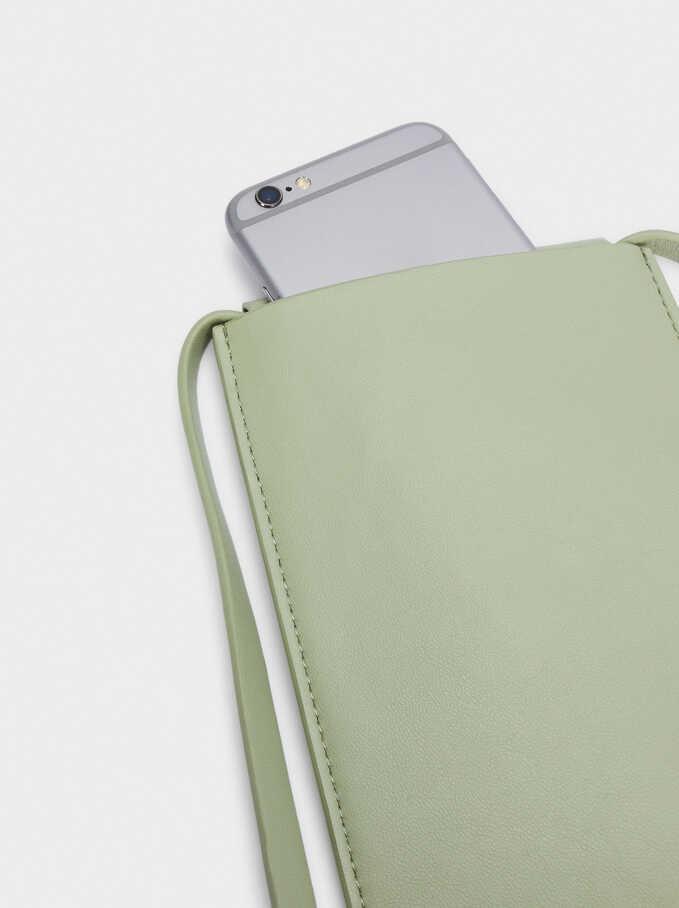 Phone Case With Shoulder Strap, Green, hi-res